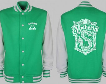 Slytherin Varsity Jacket - Harry Potter Inspired Sweater - Ravenclaw  Gryffindor Hufflepuff Sweatshirt