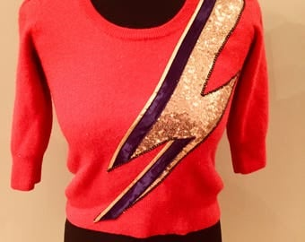 Ziggy cashmere cashmere red upcycled jumper