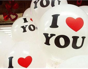 10 pcs/lot balloons 30 cm I LOVE YOU wedding, valentines day, birthday, gift, present, cute party decoration balloons.