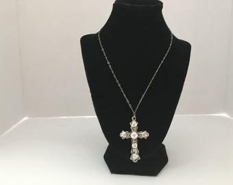 Vintage Sterling silver ornate cross