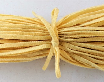 Dorr Mill Wool Strips Buttercup Color Number 31-1 100 Strips for Rug Hooking from Fine Quality Wool Hand Cut on Number 6 Blade