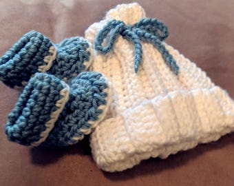 Beanie and Bootie Set