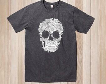 Sugar Skull T-Shirt - Mexican Sugar Skull, Unisex TShirt - Skulls, Gothic T-Shirt, Skulls Shirt
