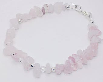 Rose Stone (Silver) Bracelet