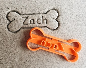 Custom Bone with Custom Name Cookie Cutter