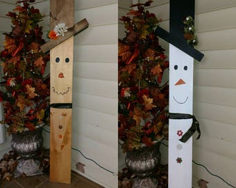 Indoor/Outdoor Reversible Holiday Fall & Winter Decoration