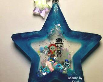 Nightmare Before Christmas Star Resin Star Shaker