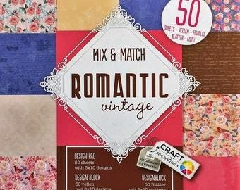Block Scrapbooking Romantic Vintage 15 x 15