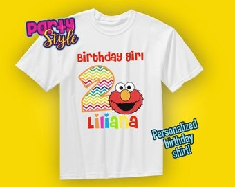 Elmo Birthday shirt, Elmo shirt, Elmo Girl birthday shirt, Girl Birthday shirt, elmo party, personalized elmo birthday shirt, Sesame street