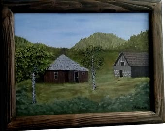 Old House and Barn with frame