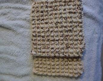 Set of 2 hand crocheted 100% cotton dishcloth washcloth