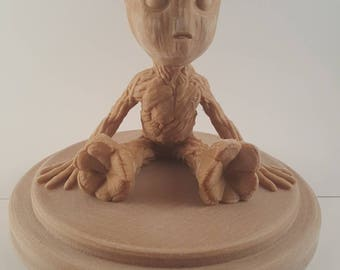 Real Wood Baby Groot Gardians of the Galaxy Wood Groot I Am Groot Fan Art Cosplay 3D Print Gift For Her Gift For Him