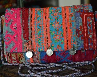 Indian Clutch Bag Vintage Banjara Patchwork Tribal Bohemian Purse Stylish Gypsy BB11