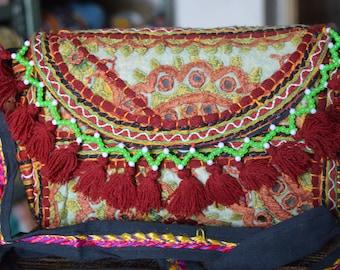 Banjara Vintage Indian Clutch Bag Patchwork Tribal Bohemian Purse Stylish Gypsy BB18
