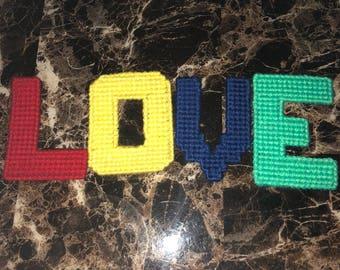 Handmade letters LOVE
