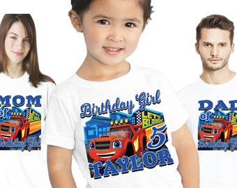 Blaze and the Monster Machines birthday shirt | Birthday outfit | Family shirts  | Personalized | Themed | Party | Decorations | Custom |