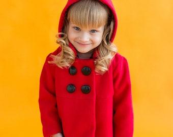 Ladybug - Girl coat - Toddler clothing