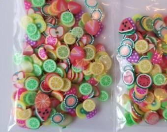 Polymer slices for slime, crunchy slime