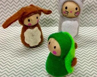 Woodland Wooden Peg Toys