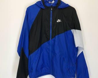 Vintage Nike Color Block Windbreaker - Blue