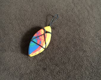Upcycled surfboard resin pendant