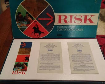 Vintage 1968 Parker Brothers Risk Board Game Complete