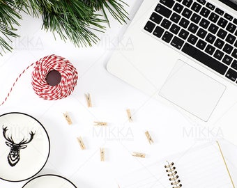 Winter Forest | Styled Stock Photography | Flat Lay Photo | Social Media Photo| Nature | Workspace | Stationery