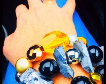 Bracelet gift SILVER QUARTZ WRISTROCKS