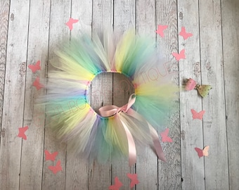 Pastel rainbow unicorn tutu