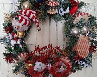 Merry Christmas Holiday Wreath