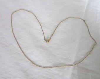 "Antique Designer Krementz Gold Filled Strong Double Length Chain 18"" Necklace"