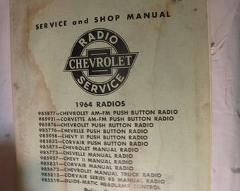 1964 chevrolet radio service manual RS-42