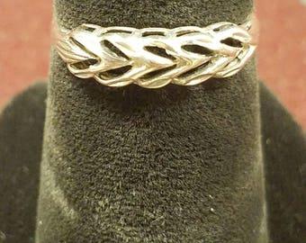 Silver Wishbone Ring