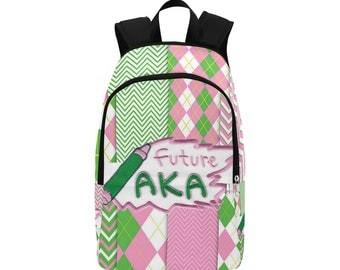 Future AKA - Alpha Kappa Alpha  Custom Fabric Backpack