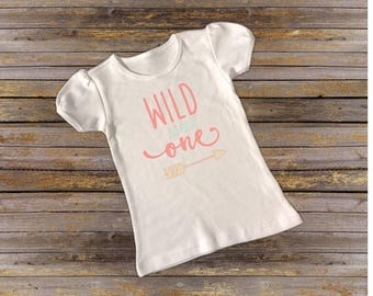 Wild and One First Birthday Tee