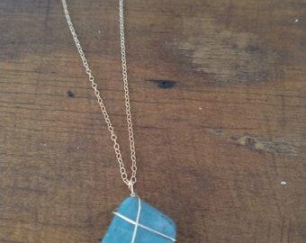 Amazonite Necklace /Gold Necklace /Crystal Necklace /Gemstone Necklace /