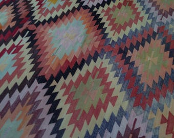 """Handmade kilim rug,247x176cm 97""""x69"""",Turkish kilim rug,Anatolian kilim rug,vintage kilim rug,tribal kilim rug, Handmade kilim rug"""