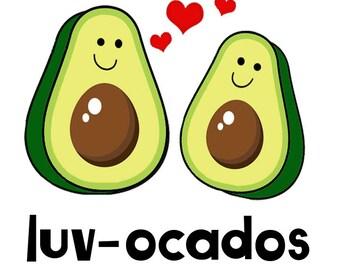 Luv-ocados PNG Avocado Design