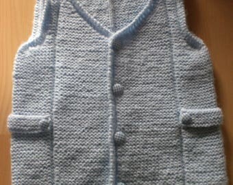 Knitting sweater fashionable sweater for boys Gr. 98-104