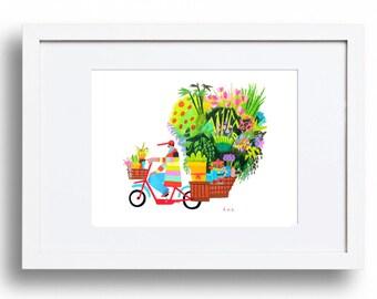 Mexico Mi Amigo Illustration Artwork//home decor//folk art//flowers//floral//drawing// disney coco