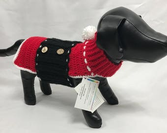 Dress Your Pet With a Fancy Santa's Coat! Size Medium.