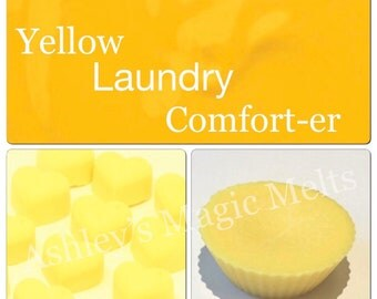 3 yellow comfort sunshine soy wax melts, designer dupe, laundry scented melts, strong long lasting melts, cheap wax melts