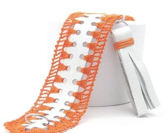 Leather Bracelet, Crochet, Stainless Steel Jump Rings, Lopster, Genuine Leather, Tassels, Items Crochet, Best Selling, Free Shipping, Gift