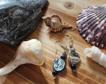 Locally Sourced Abalone Shell Earrings