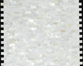 Groutless Mother of pearl kitchen backsplash MOP007 white sea shell mosaic mother of pearl tiles bathroom