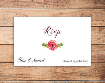 25 Arabesque RSVP response card
