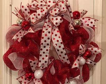 Pretty Polka Dot Wreath