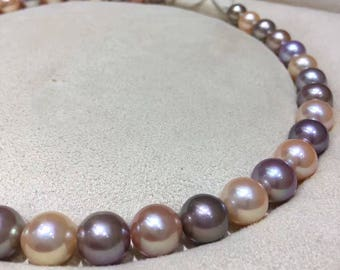 AAA 10-12 mm Full Strand Graduated Mutli Natural Colors Baroque Pearl Beads, High Luster High Quality Natural Baroque Edison Pearl Beads