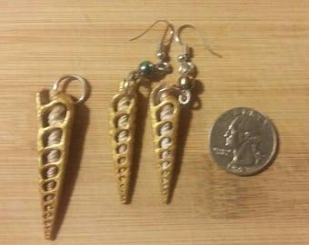 Real Seashell Earrings and Pendant