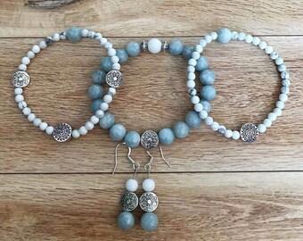 Aquamarine mala bracelets